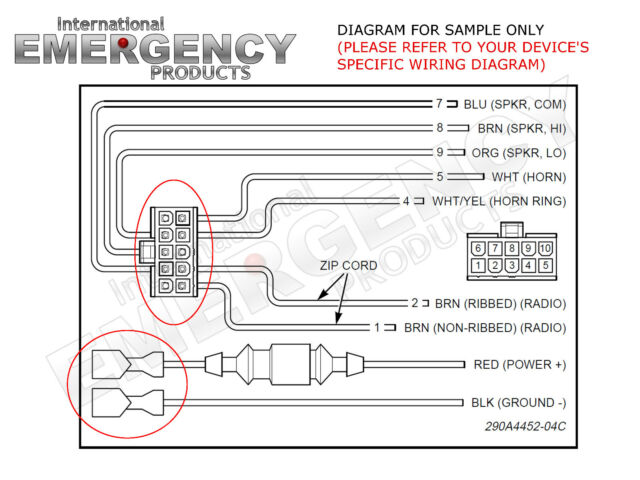 smart siren wiring diagram 10 pin connector plug for federal signal pa300r smart siren  pin connector plug for federal signal