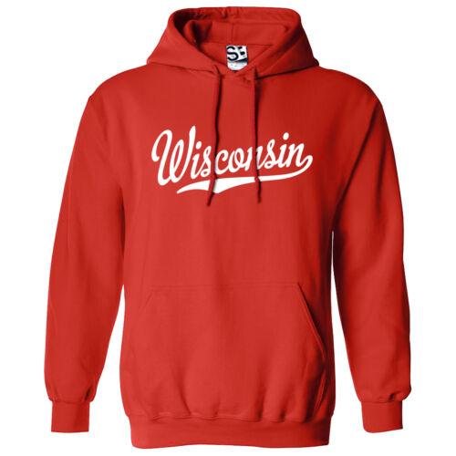 Hooded Hoodie Script Colors Sports Sweatshirt School amp; Wisconsin Team All Tail vIFxgqn