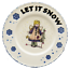 Buckeye-Stoneware-Angel-Plate-Mindy-Cain-Let-It-Snow-Country-Christmas-Tree-USA thumbnail 2