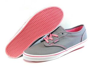 Details about Girls Youth Kids Juniors Vans Atwood Textile Grey Pink White Sneakers Shoes