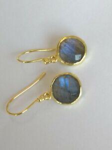 Labradorit-Ohrringe-925-Silber-vergoldet