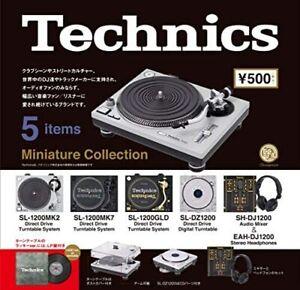 (Capsule Toy) [LP mit 1] Technics Miniatur Collection [alle 5 Sets (Full Comp)]