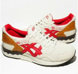 reputable site c57ec 29fd6 Details about Asics H6B0K Gel-Lyte V 5 Off White Fiery Red Size 8.5 A2
