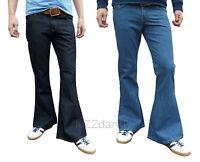 Flares Mens Denim Bell Bottoms 70's Vtg Fancy Hippie Jeans Pants Dress Trousers