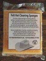 Package Of 2 M &f Orange Felt Hat Cleaning Sponges