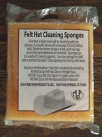 Package Of 2 M &f Orange Felt Hat Cleaning Sponges