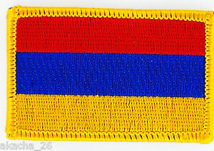 Patch Ecusson Brode Drapeau Armenie Insigne Thermocollant Neuf Flag Patche K0j1dvo4-08005151-925165227