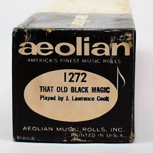 Aeolian Player Piano Roll 1272 That Old Black Magic Played by Lawrence Cook