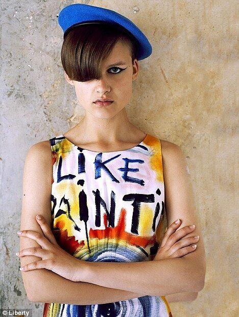 LIBERTY of London Ronnie Wood  MI SENTO COME dipinto 'Shift Dress-Taglia 6-NUOVA CON ETICHETTA