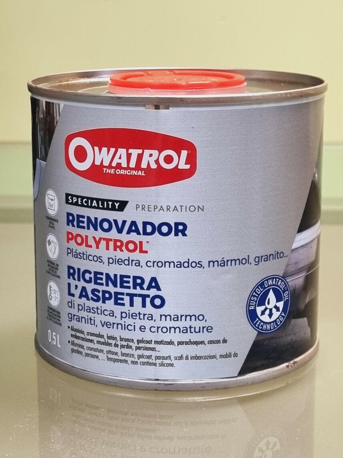 0,5lt polytrol colour restorer revives the fiber antenna plastic metal paint