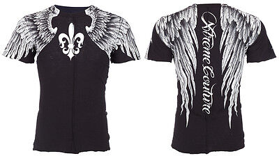 Xtreme Couture AFFLICTION Men T-Shirt AEROSMITH Tattoo Biker MMA UFC S-4XL $40