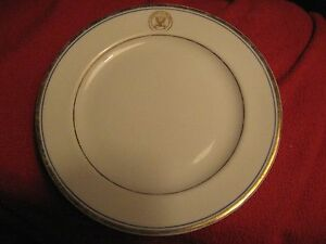 USA-Department-Of-The-Navy-Vintage-1950-039-s-Sterling-Ohio-China-USN-7-034-Bread-Plate