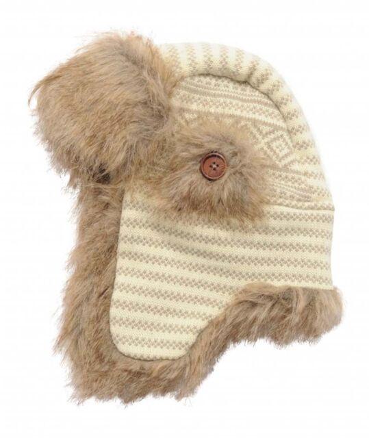 c1d8eb77138 Regatta Burr Mens Fleece Lined Warm Winter Ski Drop Ear Hat Off White One  Size