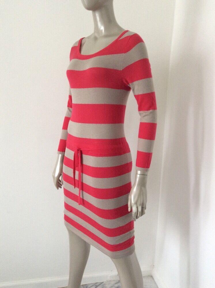 Rag And Bone Womens Red Tan Striped Wool Silk Cot… - image 10