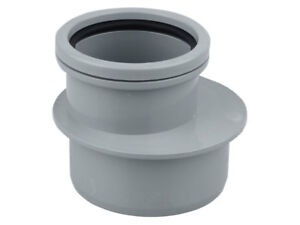 Details about Osma Soil PVC-U Reducer GREY BLACK 110mm x 82mm Single Socket  4S095G 4S095 Wavin
