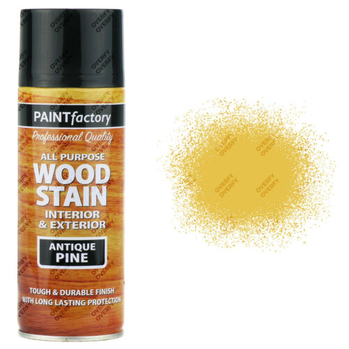 3 X 400ml All Purpose Antique Pine Wood Stain Spray Paint Interior Exterior