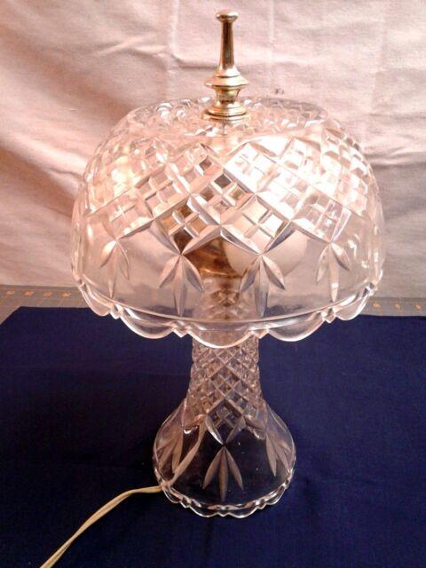 Vintage Gl Table Boudoir Vanity Desk Lamp