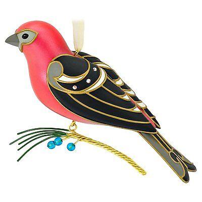 2016 Hallmark The Beauty of Birds Pine Grosbeak Ornament MIB