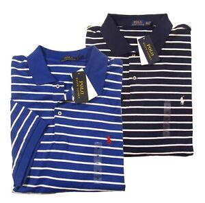 Details about Polo Ralph Lauren Big & Tall Men's Striped Interlock Short Sleeve Polo Shirt