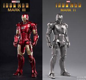 Kids-Toy-Marvel-Avengers-Iron-Man-Mark-III-Mark-II-MK-3-MK-2-7-034-Action-Figure