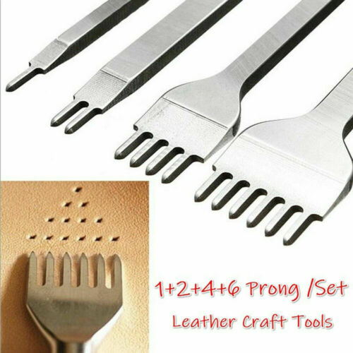 3//4//5mm Leather Craft Tools Hole Punches Stitching Punch Tool 1+2+4+6 10 Prong