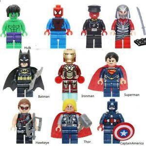 10-PCS-MARVEL-AVENGER-SUPER-HEROES-FIT-LEGO-MINIFIGURE-THOR-HULK-BATMAN-SUPERMAN