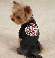 Zack & Zoey Zebra Peace Sign Dog T-Shirt Tee Black Pet Top New