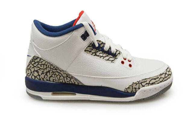 official photos e46ac 03f26 Juniors Nike Air Jordan 3 Retro OG - 854261 106 - White Fire Red True Blue
