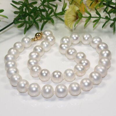 10-11MM NATURAL WHITE FRESHWATER CULTURED PEARL NECKLACE 18/'/' AAA+