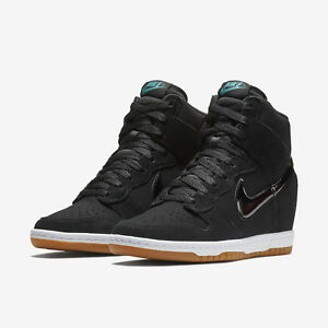 7f6c1e7165bc Nike Dunk Sky Hi Essential Wedge Black Gum 644877-011 Women s Shoes ...