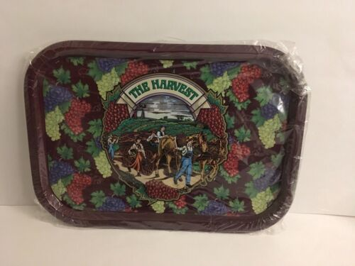 """Metal Serving Tray The Harvest Grape Orchard Horse Wagon Basket 15 1//2/"""" x 11 1//4"""