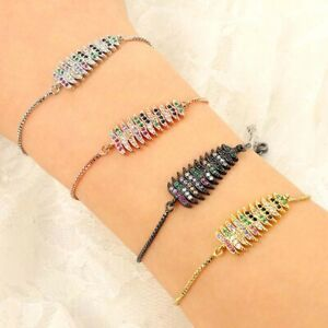 Rhinestone-amp-Crystal-Christmas-Tree-Copper-Bangle-Fashion-Adjustable-Bracelet