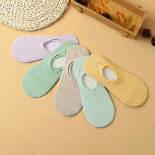 2 Pairs Casual Ladies Women Fashion Light Colours Invisible Socks No Show Socks