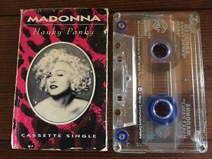 MADONNA-HANKY-PANKY-Rare-1990-Australian-Cassette-SINGLE-Tape