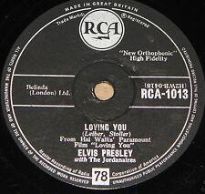 ELVIS PRESLEY TEDDY BEAR b/w LOVING YOU RCA 78 RPM E+ EXCELLENT PLUS GRADE