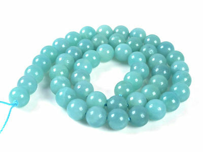 6mm248 6mm AAA blue amazonite round loose beads 16""