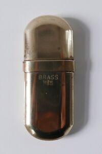 Briquet-a-essence-en-laiton-Brass-N-5-Premiere-moitie-du-XXe