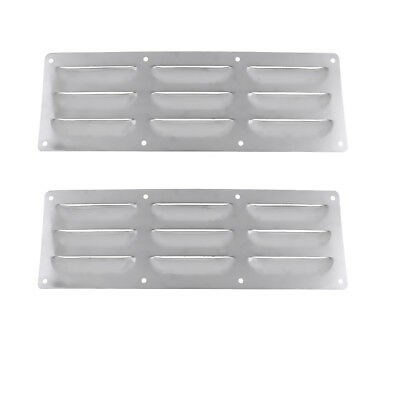 Dolity 2 Pcs Stainless Steel Boat Louver Air Vent Ventilation Cover for Marine Boats Yachts RV