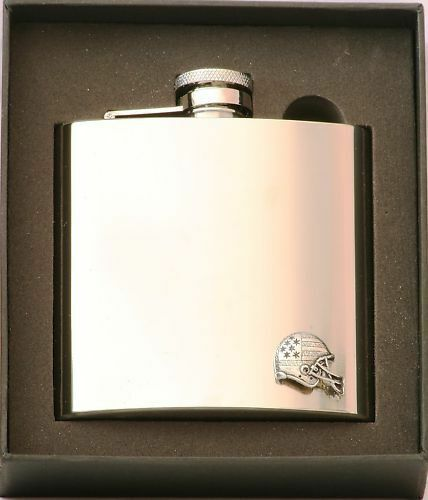 American Football Stainless Steel  Hip Flask Gift Boxed