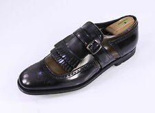 NIB New *CHURCH'S * Shanghai 5 Monk Strap Smoke Gray Patent Leather Shoes US 9.5