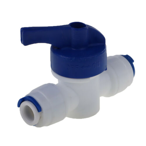 """Inline Tap 1//4/""""OD POM Ball Valve Quick Connect Switch for Water Purifier"""