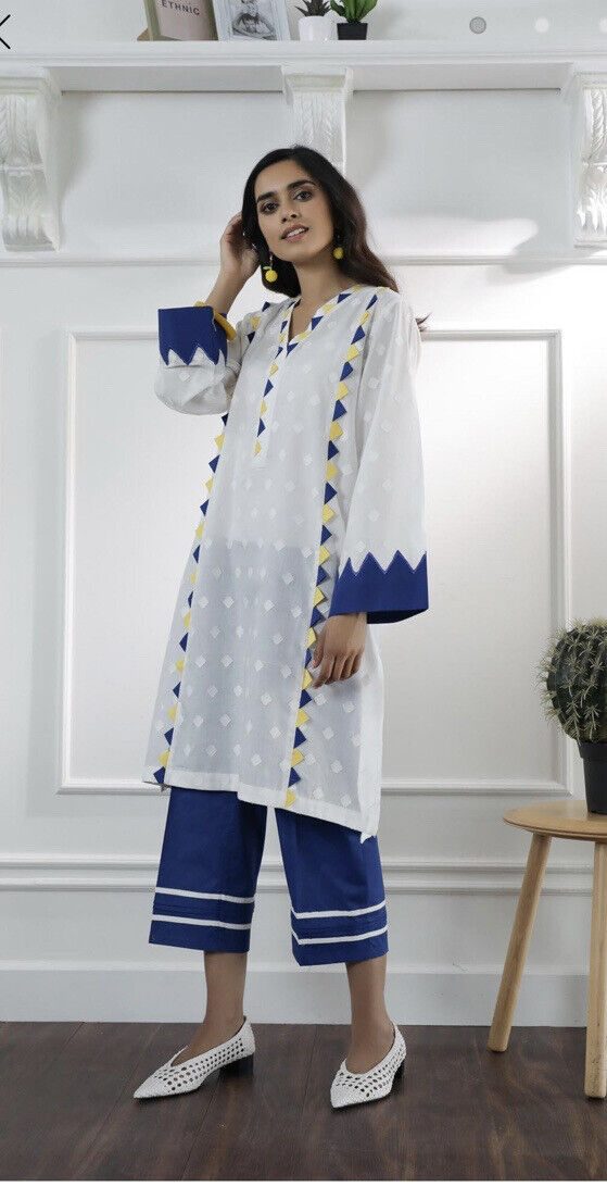 Ethnic By Outfitters Medium Cotton Two Piece Suit/