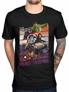 Détails sur Officiel Marvel Comics Avengers HULK THOR bars t shirt captain america iron man afficher le titre d'origine