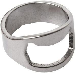 New-Beer-Ring-Bottle-Opener-Stainless-Steel-Metal-Finger-Thumb-keyring-Tool-UK