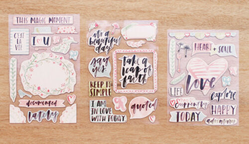 Project Life INSPIRE 45 CHIPBOARD STICKERS scrapbooking 380394