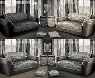 Protector For Sofas Settee Silver Grey