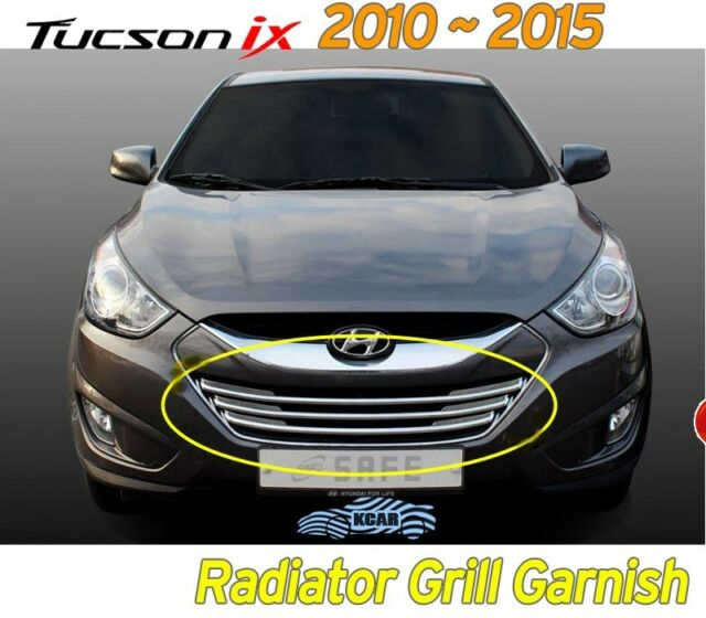 Chrome Radiator Grill Molding Garnish 3Pcs For Hyundai 2010-2015 Tucson iX ix35