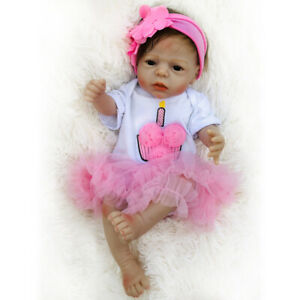 22inch Realistic Reborn Baby Doll Girls Toy Toddler Newborn Anatomically Correct