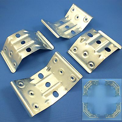 4 x LARGE CORNER TABLE LEG BRACE/BRACKET Angle Fix Repair Strengthen HEAVY DUTY