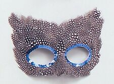 Speckled Black & White Feather Eye Mask Adult Fancy Dress Masquerade NEW P1708